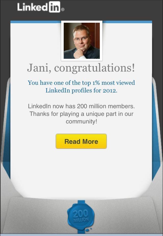 LinkedIn 1%